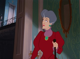 Wicked stepmother Lady Tremaine has thought to keep Cinderella locked out of sight while the Grand Duke tries the glass slipper on her ugly daughters.