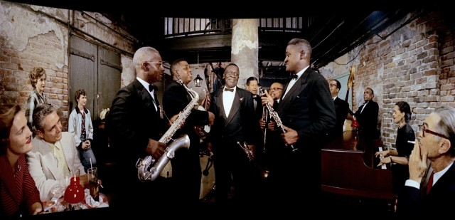 "Oscar ""Papa"" Celestin and a New Orleans jazz band entertain patrons of New Orleans' Absinthe House with ""Tiger Rag."""