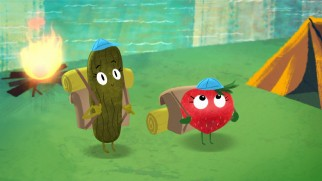 "A pickle and Barry the strawberry go camping with Earl in the all-new short ""Earl Scouts."""