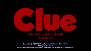 It's not just a game...anymore, proclaims the tagline in the Clue movie's theatrical trailer.