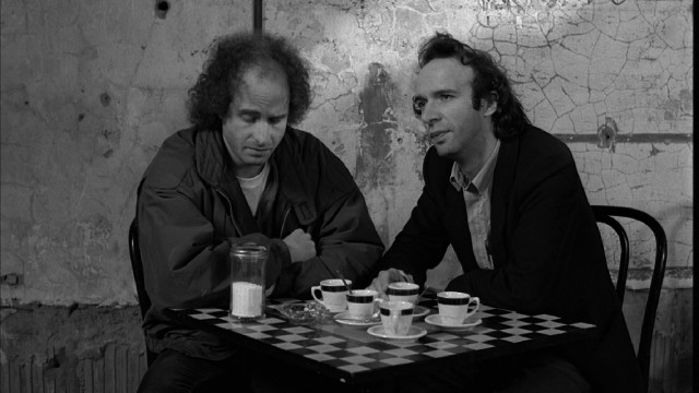 "Comedian Jeffrey Wright and Italian actor Roberto Benigni provide a study of contrast in ""Strange to Meet You"", the 1986 Saturday Night Live short that opens ""Coffee and Cigarettes."""