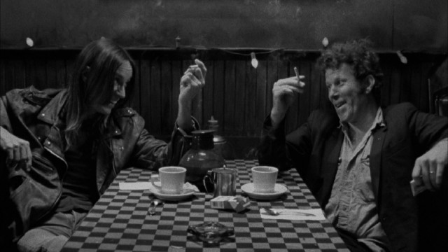 Iggy Pop and Tom Waits share a laugh over coffee and cigarettes, but most of their encounter is marked by awkward tension.