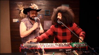 "Horatio Sans lets Reggie Watts do most of the singing in their ""Reggie Makes Music"" performance."