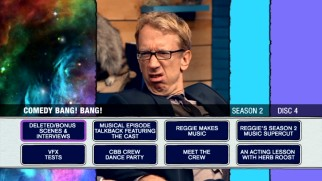 Andy Dick looks troubled on the Disc 4 menu.