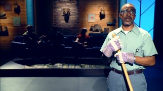 A happy janitor (Tim Meadows) narrates the season's fourth episode like an old-time movie.