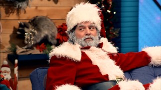 For his second appearance on the show, Zach Galifianakis plays a not terribly jolly Santa Claus in Season 2's finale.