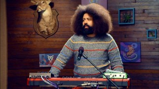 Reggie Watts supplies the show's off-beat music.