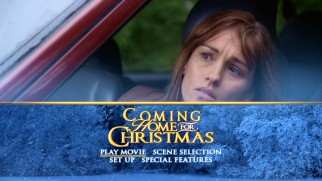Amy Jo Johnson is not pleased to discover her foreclosed home has been sold on the Coming Home for Christmas DVD's main menu.