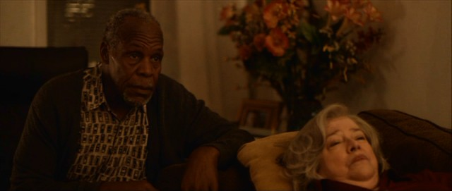 Danny Glover and Kathy Bates chip in some veteran support as a dry joke-making Haitian and his injured wife.