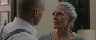 Coriolanus' mother Volumnia (Vanessa Redgrave) pleads with her son to run for consul.