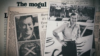 Press clippings celebrate Roger Corman at the height of his 1970s B-movie success.