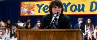 Smitten eighth grade salutatorian Robbie (Jonah Bobo) is not the one who gets to deliver the film's big climactic speech.