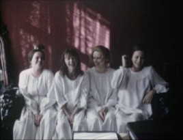 Despite the dramatic nature of the film, on-set footage shows the four leading actresses having a fun time together.