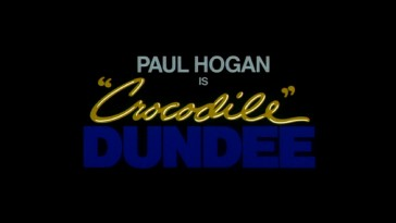 "Paul Hogan is ""Crocodile"" Dundee, touts the original film's theatrical trailer."