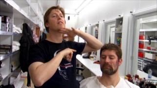 "In ""Divine Intervention"", Chris Bridges demonstrates some of the gory make up effects and prosthetics he created for ""The Calling."""