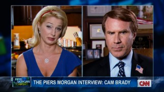 "From the kitchen, Mrs. Brady (Katherine LaNasa) joins Cam (Will Ferrell) on CNN's ""Piers Morgan Tonight"" in the longest scene exclusive to the extended cut."