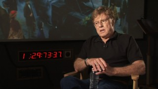Robert Redford seems more aware of the camera's presence in his making-of featurette remarks.