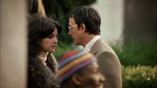 "Cindy Williams and Frederic Forrest play the adulterous San Francisco couple whose confidential lunch hour conversation pervades ""The Conversation."""