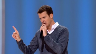 "In a discussion of DVD extras, Daniel Tosh explains the kind of alternate ending he'd consider worthwhile, using a wildly divergent conclusion to Disney's ""The Mighty Ducks"" as an example."
