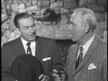 "Walt Disney and Pat O'Brien in ""I Captured the King of the Leprechauns."""