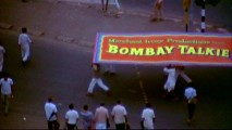 "The title and other opening credit shots from 1970 Merchant Ivory film ""Bombay Talkie"", whose score is sampled, is seen as part of ""Conversation with James Ivory."""