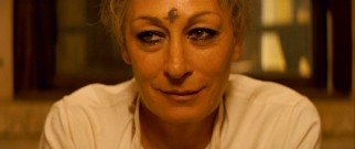 The trip's secret destination is the guys' mom, now Sister Patricia Whitman (Anjelica Huston), Himalayan nun.