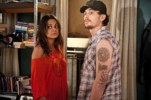 TV period dramedy veterans Mila Kunis and James Franco join forces for a knee-slapping cameo in Date Night.
