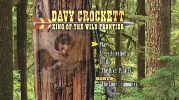 The Main Menu for Davy Crockett, King of the Wild Frontier