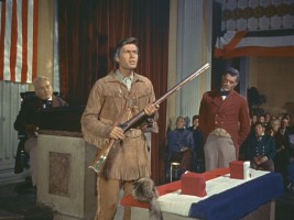 "In New York, Davy gets a rifle he names ""Betsy""."