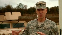 "Army film liaison Lt. Col. Gregory Bishop explains some of the aspects on which he advised the makers of ""Dear John."""
