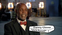 In his featurette interviews, Danny Glover is more alert than (but as lispy as) his turn in the film as old coot Uncle Russell.