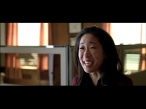 Playing Arthur's court-appointed psychiatrist, Sandra Oh cracks up in the Defendor outtakes reel.