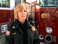 "For the phasing out of the word ""fireman"", we can credit women like battalion chief Jamie Hirsch, who speaks eloquently about ""Fighting Fires."""