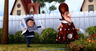 """Despicable Me"" tries to generate sympathy for its villain protagonist by giving Gru a cold mother (voiced by Julie Andrews)."