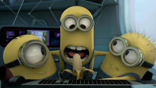 Evidently unaware of the downstairs kitchen, three minions fight over a single banana in this new mini-movie.