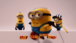 The minions' end credits shenanigans, seemingly designed with 3-D in mind, enliven the DVD's main menu.