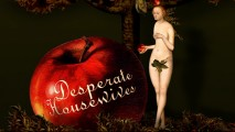 "The ""Desperate Housewives"" title logo, as it appears in the opening credits."
