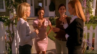 The desperate housewives of Wisteria Lane make a toast.