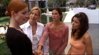 The leading ladies gather to comfort Bree in the wake of Rex's death.