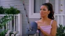 First a lawnmower, now a chainsaw. Gabby (Eva Longoria) knows how to use an appliance to get what she wants.