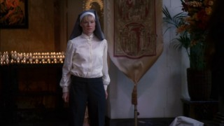 Sister Mary (Melinda Page Hamilton) practically begs for excommunication and Gabby aims to ensure it.