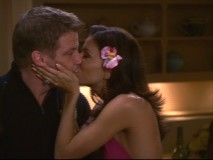 A kiss with Lynette's husband, Tom, is one of Gabrielle's juiciest moments in Season Two according to her performer, Eva Longoria.