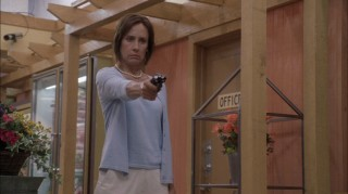 "Laurie Metcalf's turn as Carolyn Bigsby is one of Season 3's highlights. Here, she's seen holding a grocery store hostage in ""Bang."""