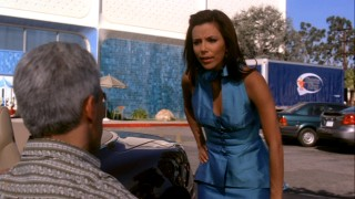 In sickness and in health, Gabby (Eva Longoria Parker) is the same spoiled wife she's always been -- seen here taking advantage of Carlos' newfound disability.