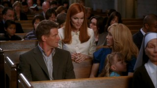 "Bree (Marcia Cross) brings new meaning to ""church lady"" when the Scavos try different congregations on for size in ""Sunday""."