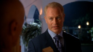 "Dave Williams (Neal McDonough) makes a forceful late night entry to Wisteria Lane, sparking the central mystery in ""Desperate Housewives""' fifth season."