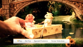 The mouse dioramas that open the film also feature prominently on the DVD's menus.