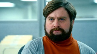 Zach Galifianakis draws laughs as Therman Murch, a turtleneck dickey-wearing IRS workaholic with the power to control minds and audit enemies.