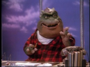 Earl Sinclair gets promoted to TV network executive in one of Season 3's better episodes.