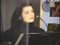 "Julianna Margulies records the voice of Neera in a recording session clip from the ""Film Fact Fossil Dig."""